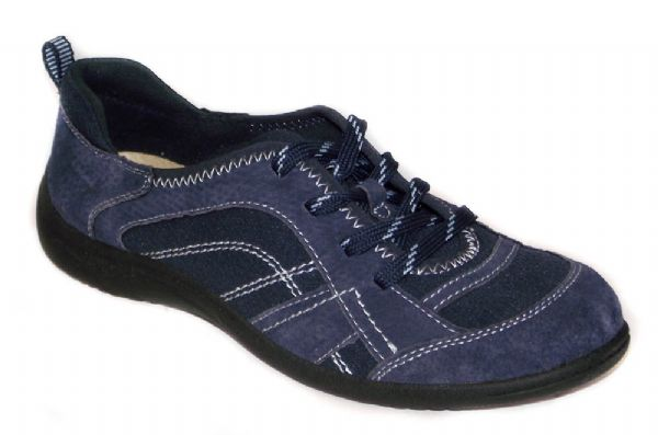 Atlanta navy Suede leather laced shoe